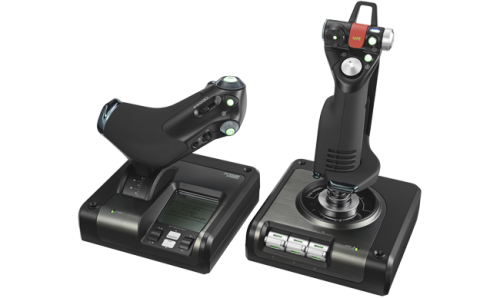 Logitech X52 Professional H.O.T.A.S. 945-000022 Part-Metal Throttle and Stick Simulation Controller