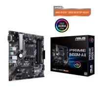 ASUS Prime B450M-A II Socket AM4 Micro-ATX AMD B450 4xDIMM DDR4 1xM.2 USB 3.2 Aura Sync RGB Motherboard