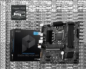 MSI B560M PRO-VDH WIFI LGA1200 Micro-ATX Intel B560 4xDIMM DDR4 2xM.2 USB 3.2 Wi-Fi AC+BT Motherboard (B560MPVDHWI)