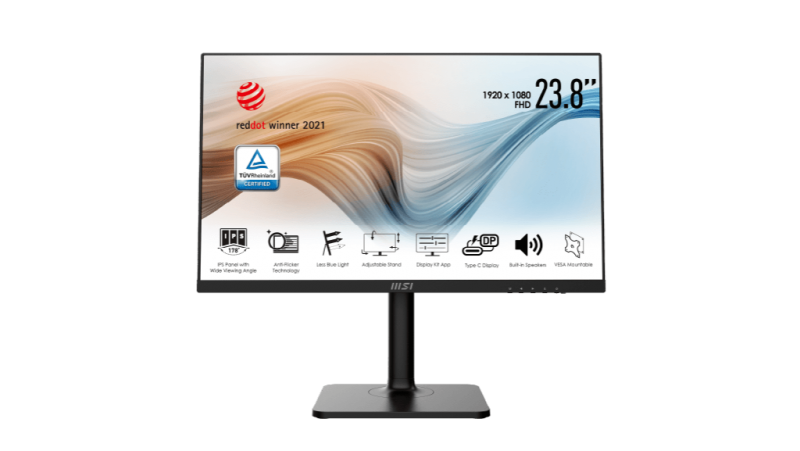 "MSI Modern MD241P 23.8"" FHD IPS 75Hz Height Adjustment, Pivot, HDMI/USB-C Business Monitor (MODERNMD241P)"